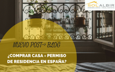 How do I get the residence card if I purchase a house in Spain?